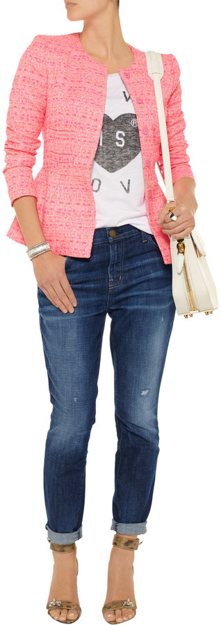 Current/Elliott The Slouchy Stiletto low-rise skinny jeans