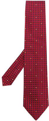 Etro geometric & dot printed tie