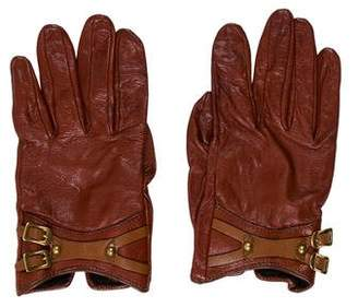 Gucci Leather Silk-Lined Gloves