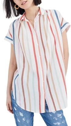 Madewell Central Rainbow Stripe Tunic Shirt