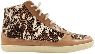 Burberry Brown Pony-style calfskin Trainers