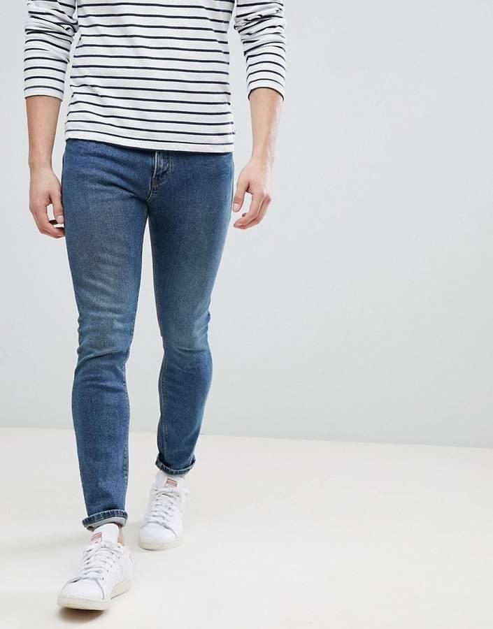 Man – Schmale Jeans in Vintage-Blau