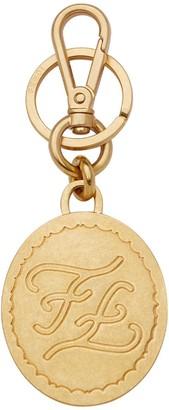 engraved Karligraphy motif key charm