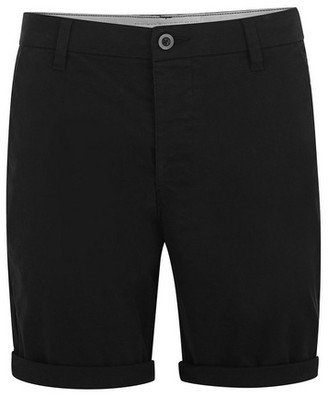 Topman Mens Black Stretch Skinny Fit Chino Shorts