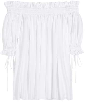 Alexander McQueen Cotton off-the-shoulder top
