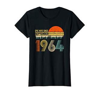 Womens Epic Wife Since September 1964 Anniversary 55th Wedding T-Shirt