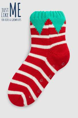 Next Boys Red Elf Slipper Socks (Older)