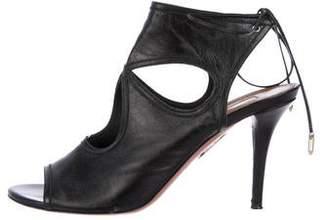 Aquazzura Sexy Thing Leather Sandals