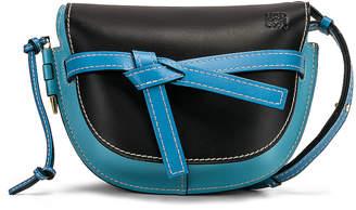 Loewe Gate Small Bag in Black & Light Blue   FWRD