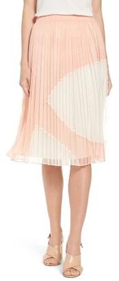 Women's Catherine Catherine Malandrino Francis Pleat Tulle Skirt