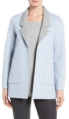 Women's Eileen Fisher Double Face Brushed Wool Notch Collar Jacket $448 thestylecure.com