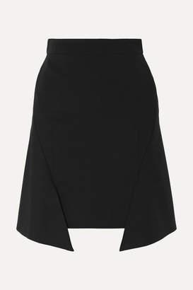 Alexander McQueen Asymmetric Jersey Mini Skirt - Black