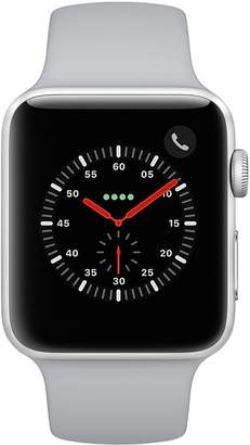 Apple Watch Series 3 (GPS + Cellular) 42mm Silver Aluminum Case with Fog Sport Band