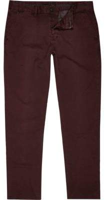 River Island Berry red slim chinos