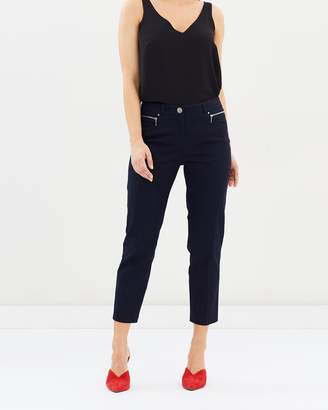 Wallis Cropped Zip Pocket Pants
