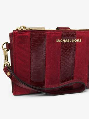 MICHAEL Michael Kors Adele Mixed-Media Smartphone Wallet