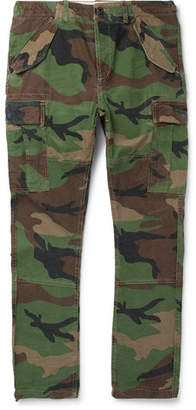 Polo Ralph Lauren Slim-fit Camouflage-print Cotton-twill Cargo Trousers - Green