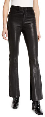 Rag & Bone Bella High-Rise Boot-Cut Leather Pants