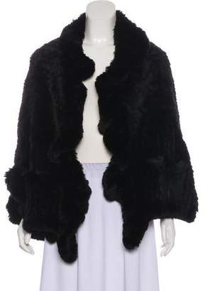 Yves Salomon Fur Short Sleeve Cardigan