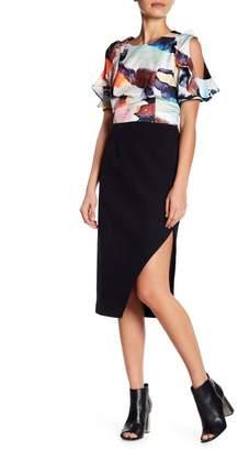 KENDALL + KYLIE Kendall & Kylie Slit Crepe Midi Skirt
