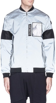 Merrill and Forbes Detachable patch reflective bomber jacket