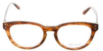 Valentino Round Keyhole Eyeglasses