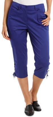 Regatta NEW Cropped Lace Up Cuff Pants Azure