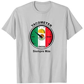 Funny Spanish Taco T Shirt Tee with the Tacometer Foodies