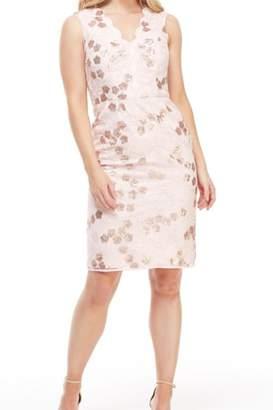 Maggy London Sequin Blush Dress