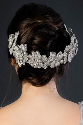 Deepa Gurnani Silver Flower Crown