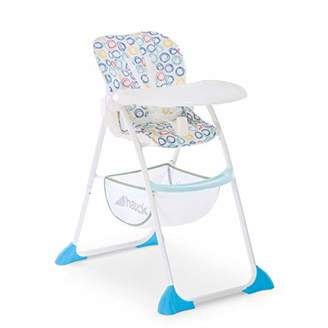 Hauck Sit'n Fold Adjustable Highchair From 6 Months, Removable Depth-Adjustable Tray, Adjustable Backrest, Large Basket, Folding High Chair for Toddlers, Circles Multi