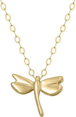 JCPenney FINE JEWELRY Teeny Tiny 14K Yellow Gold Petite Dragonfly Pendant Necklace