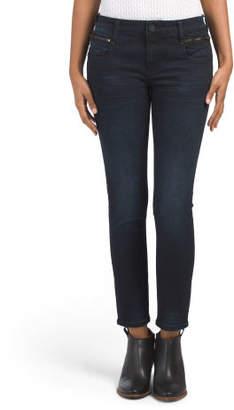 Reese Ankle Skinny Zip Pocket Jeans