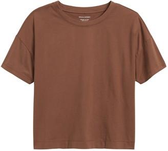 Banana Republic SUPIMA Cotton Cropped T-Shirt