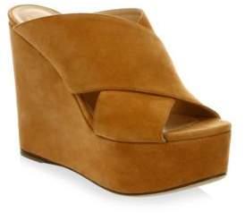 Sergio Rossi Alma Suede Platform Wedge Sandals