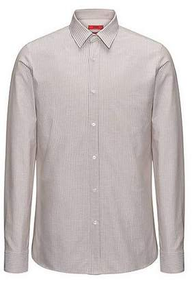 HUGO BOSS Striped cotton-blend shirt in an extra-slim fit