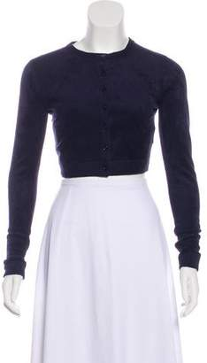 Alaia Long Sleeve Crop Cardigan