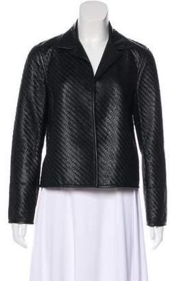 Ralph Lauren Woven Leather Jacket