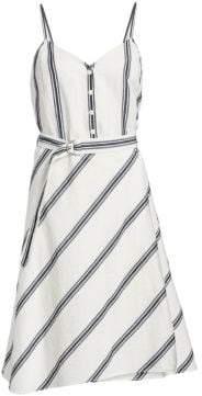 Rag & Bone Doris Sleeveless Belted A-Line Dress