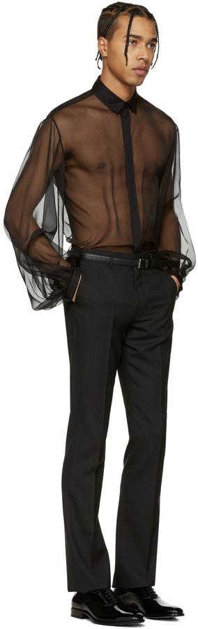 Saint Laurent Black Sheer Shirt 2