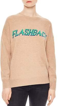 Sandro Childhood Flashback Wool & Cashmere Graphic Sweater
