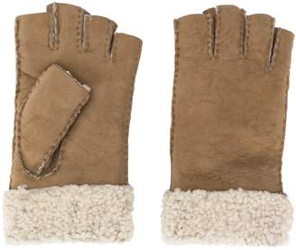 Gala Gloves half finger shearling gloves