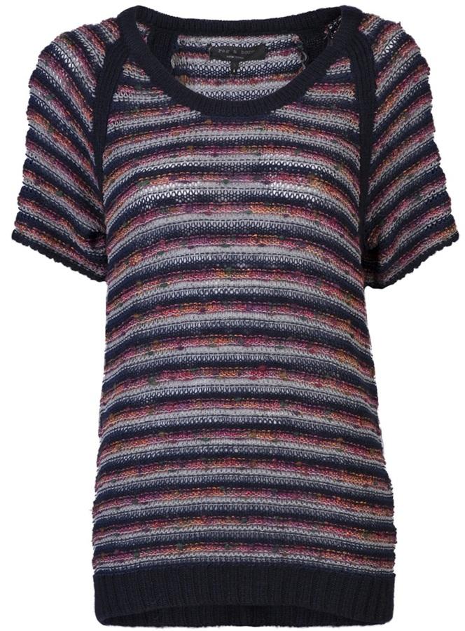 Rag & Bone Amy striped knit pullover