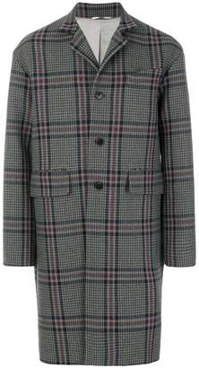 Valentino houndstooth single breasted coat