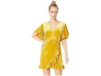 BB Dakota West Village Velvet Wrap Dress