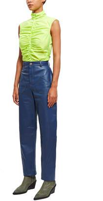 Pihakapi Leather Denim Trousers