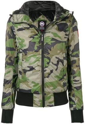Canada Goose camouflage padded bomber jacket