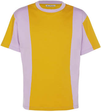 Acne Studios Two-Tone Cotton-Jersey T-Shirt