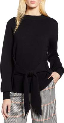Halogen x Atlantic-Pacific Wool and Cashmere Blend Tie Sweater