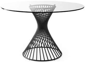 Calligaris Vortex Table With Matt Black Metal Frame